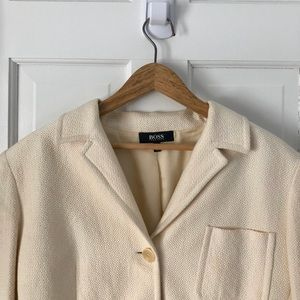 Hugo Boss textured blazer, made in Italy